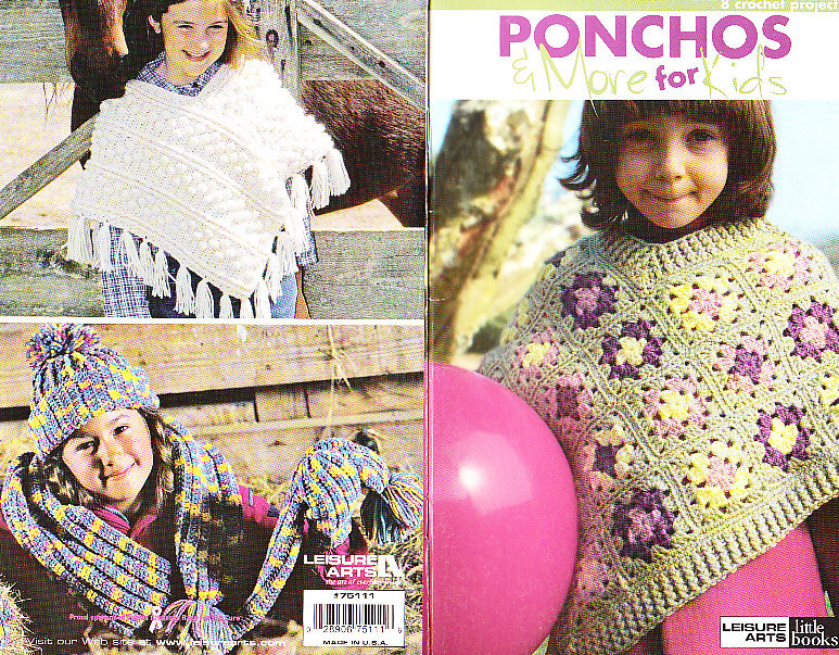*Crochet Kids Ponchos Caps and Scarfs