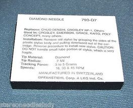 DIAMOND STYLUS NEEDLE FOR NP1 Crosley CR66 fits some CR8005A Cruiser Players NEW image 3
