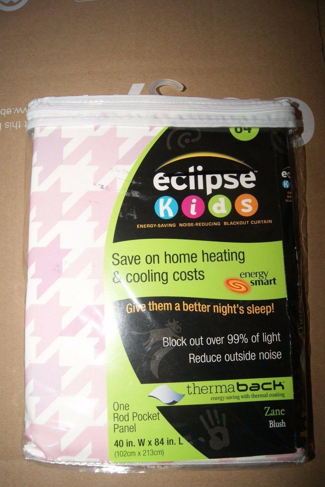 "Eclipse Zane Thermaback 1 WIndow Panel 40""x84"" Light Pink - New - $19.00"