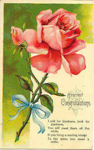 Hearty Congratulations Vintage 1910 Post Card - $3.00