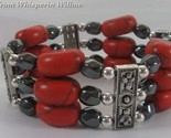 Hematite and red stone bracelet 1 thumb155 crop