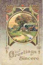 Greetings Sincere Vintage 1914 Post Card - $3.00