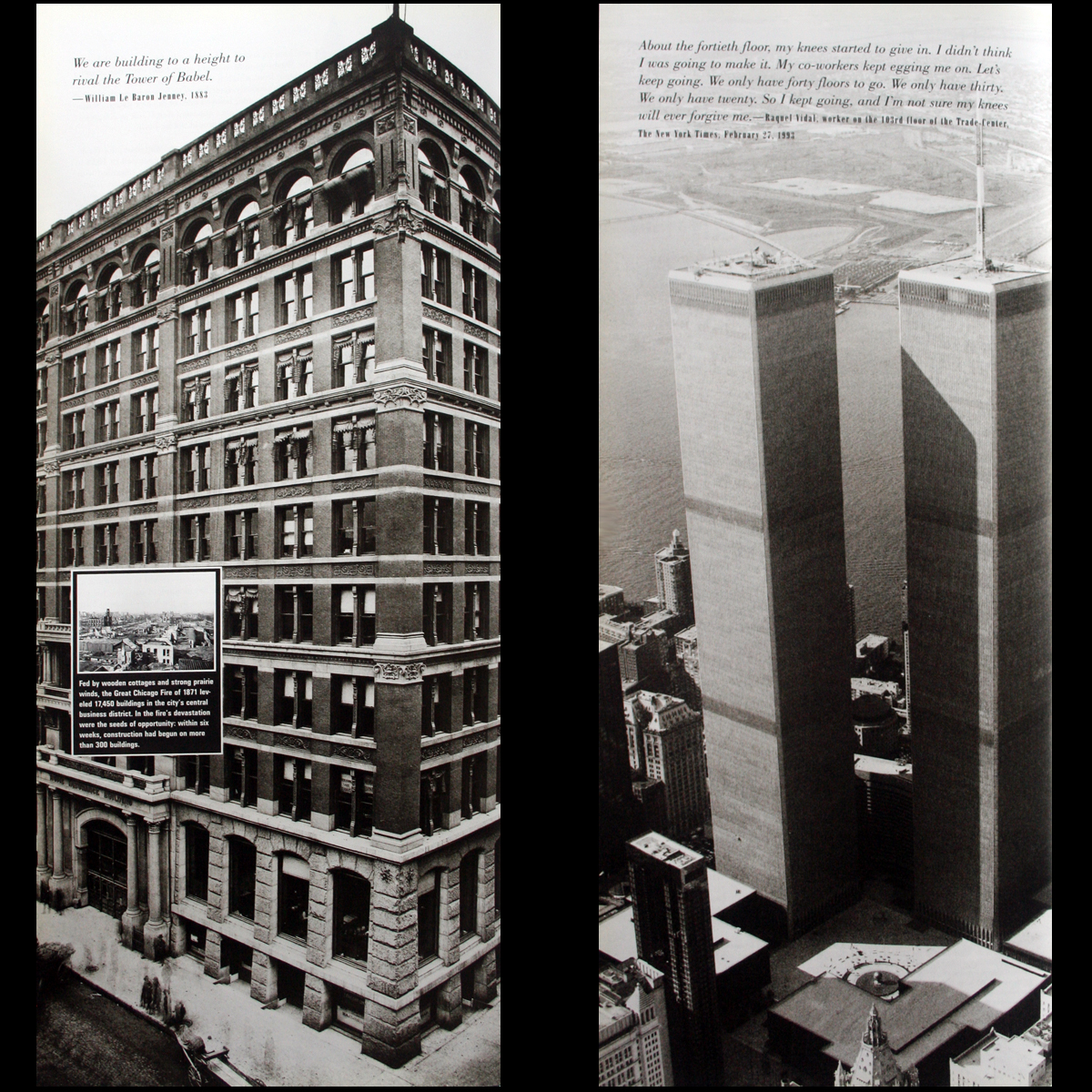 "Skyscrapers Architecture History 18"" + Tall! World Trade Cen"