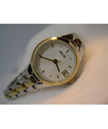 "L52, RELIC Ladies Two Tone Wristwatch, Date, 6"" Bracelet Band, ZR33470, wb - $19.79"