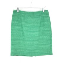 Banana Republic Women's Size 8 Straight Pencil Skirt Emerald Green Tweed  - $30.84