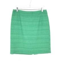Banana Republic Women's Size 8 Straight Pencil Skirt Emerald Green Tweed  - $589,36 MXN
