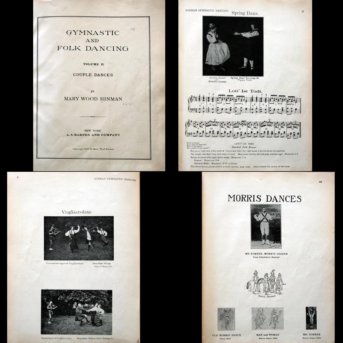 1930 Folk Dancing Morris Clog Cotillions Tarantella +