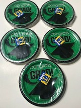 """Flying Graduation Party School Colors Round Plates 7"""" - (5) 18-Packs - 90 Total! - $24.05"""
