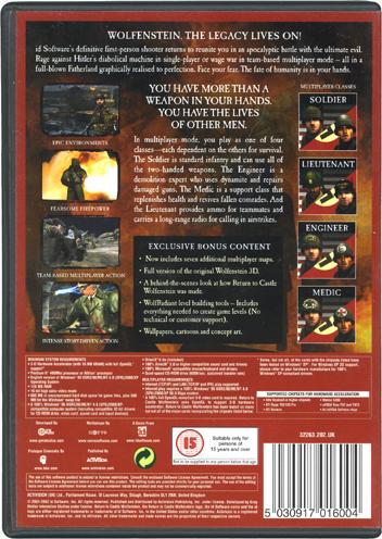 Return to Castle Wolfenstein - Special Edition [PC Game]