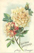 Birthday Greetings Vintage 1908 Post Card - $3.00