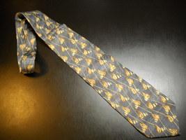 Joseph Abboud Neck Tie Design No 71212 Greys Italian Leaves Vines Golden Browns - $12.99