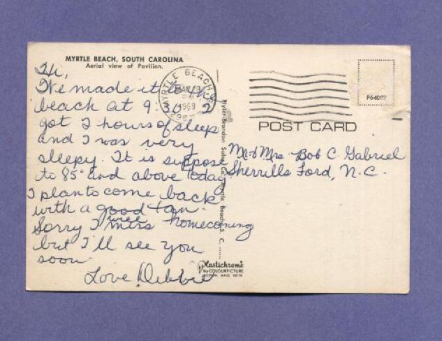 Vintage Postcard 1969 Aerial View  Pavilion Myrtle Beach SC 1960s