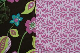 Pillowcase Floral Damask Pink Chocolate Brown Handmade Handsewn - $14.00