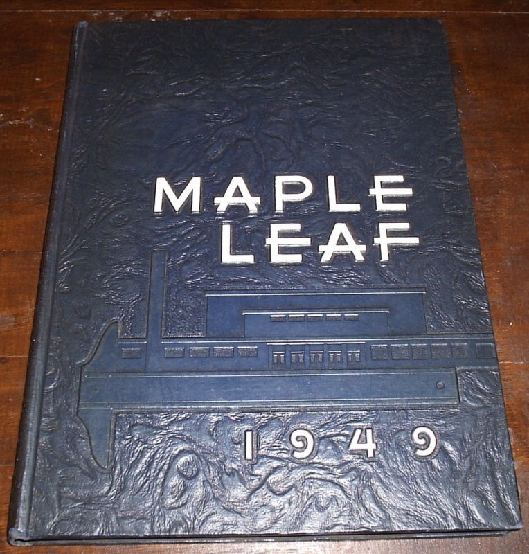1949 GOSHEN COLLEGE INDIANA YEARBOOK Maple Leaf