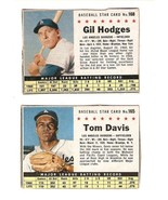 1961 Post Dodgers GIL HODGES #168 TOMMY DAVIS #165 - $6.75