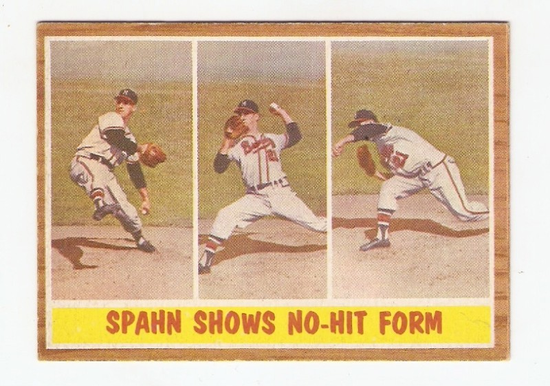1962 Topps Braves WARREN SPAHN #312