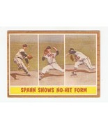 1962 Topps Braves WARREN SPAHN #312 - $7.65