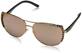 Michael Kors Aviators Women\'s Sadie I Black Gold Leopard Mirror One Size - £60.49 GBP