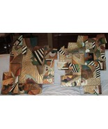 AFRICAN ABSTRACT 2 PIECE WALL ART  Isaac Hayes Estate - $292.50