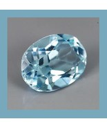 1.27ct Natural BLUE TOPAZ Oval 7x4mm Faceted Loose Gemstone - $11.99