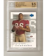 Andre Carter 2001 UD GRADED ROOKIE #87 BGS 9.5 GEM MINT - $4.50