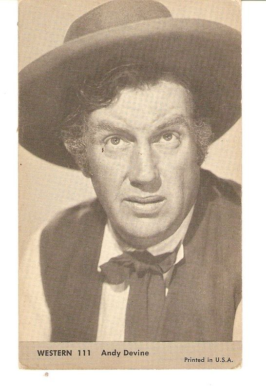 ANDY DEVINE Western EXHIBIT CARD