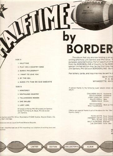 BORDERLINE Featuring Monterey HALFTIME LP SEALED
