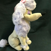 Disney Georgette Purple Dog Plush 1988 Vintage Oliver and Company - $56.99