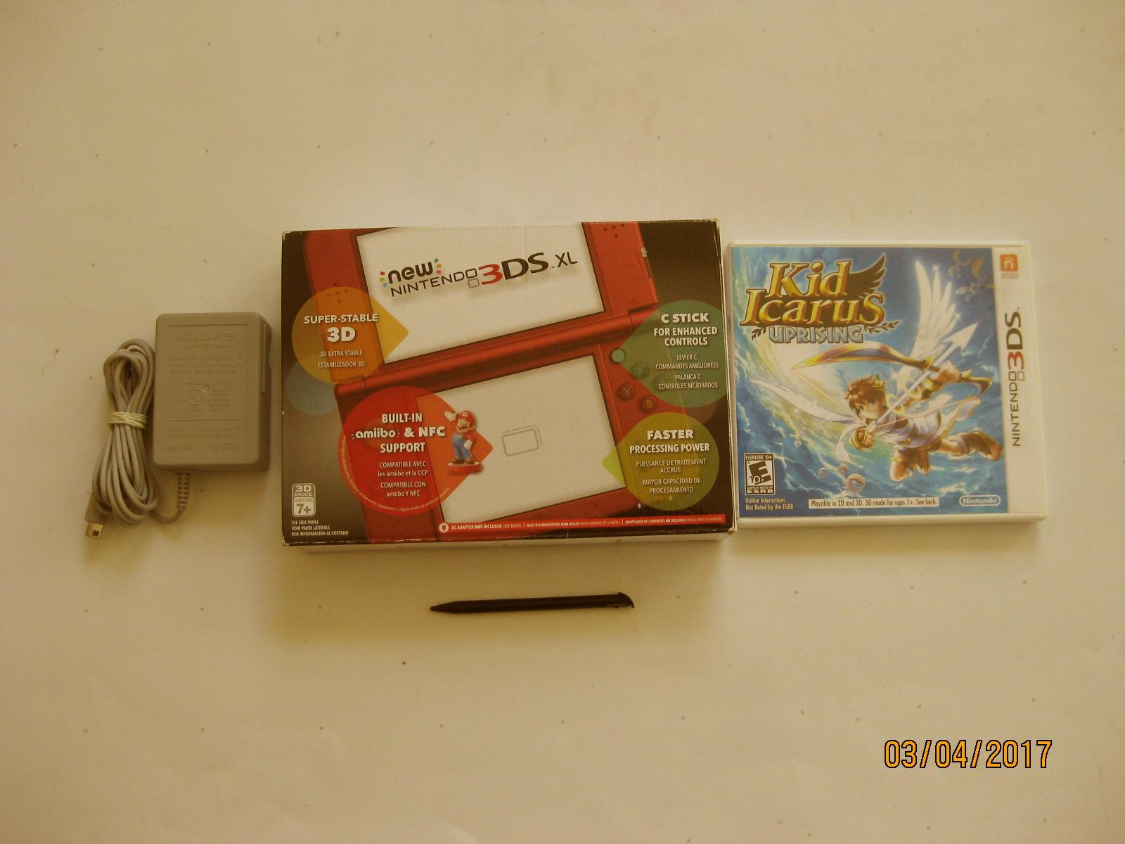 Primary image for Red Nintendo New 3ds xl  w Kid Icarus Uprising  & More!!!