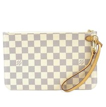 #32273 Louis Vuitton Neverfull Pochette XL Wristlet Cosmetic Evening Clutch - £329.63 GBP