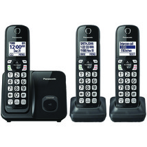 Panasonic(R) KX-TGD513B Expandable Cordless Phone with Call Block (2 Han... - $146.85