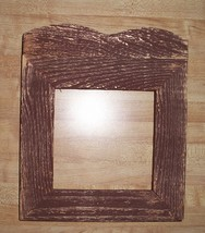 "Dark Red Cedar Primitive Frame 1.5"" wide 6.75 x 6 opening cross stitch f... - $19.50"