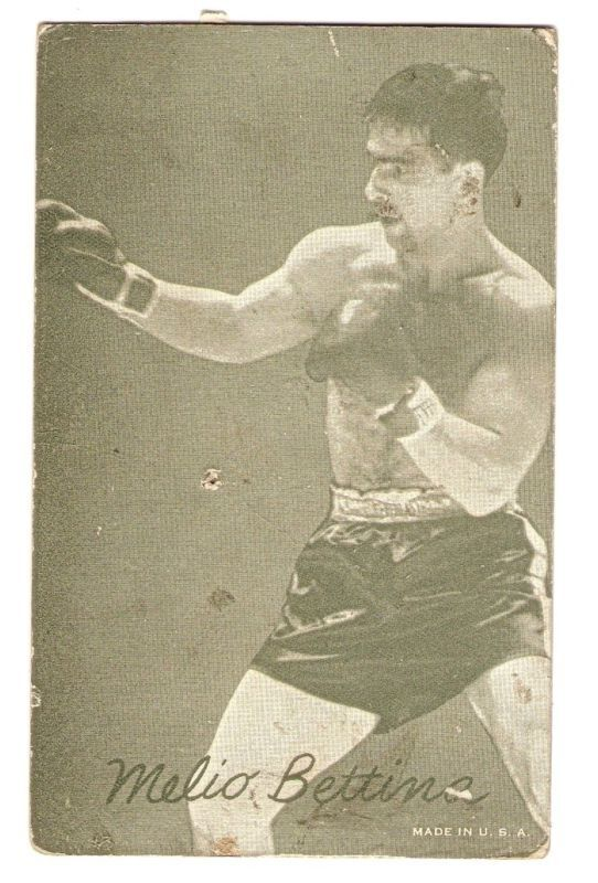 MELIO BETTINA Light Heavyweight Boxing Exhibit Card