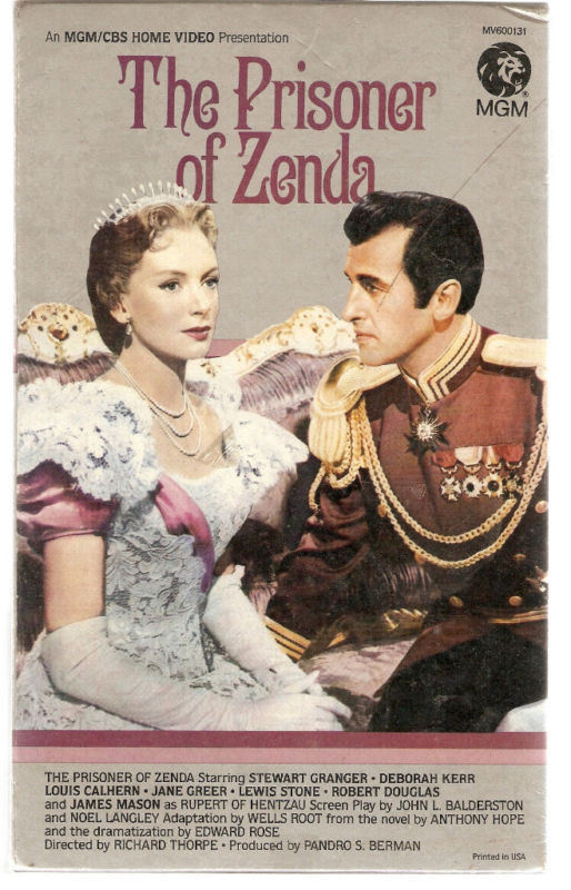 THE PRISONER OF ZENDA Granger Kerr VHS VIDEO MGM