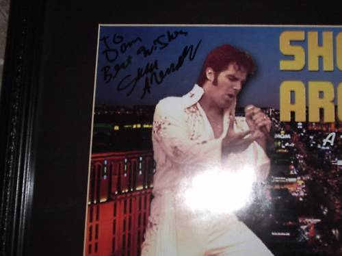 SHEA ARENDER A Tribute To Elvis SIGNED FRAMED POSTER