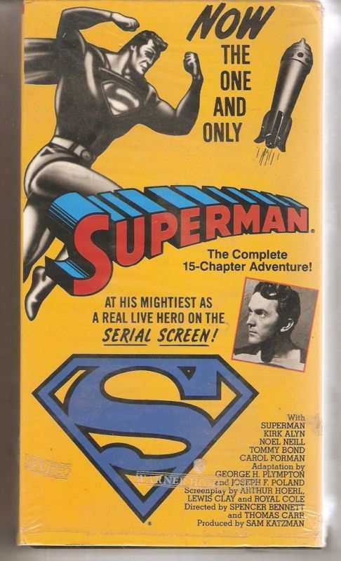 SUPERMAN COMPLETE 15 CHAPTER ADVENTURE VHS Alyn MINT