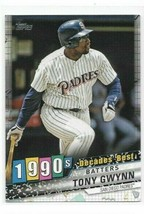 2020 Topps Decades Best #DB-56 - Tony Gwynn - Padres - NM/MINT - $1.49