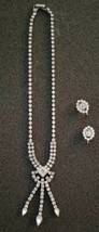 ESTATE JEWELRY VINTAGE LA-REL RHINESTONE  NECKLACE & EARRING SET - $29.70