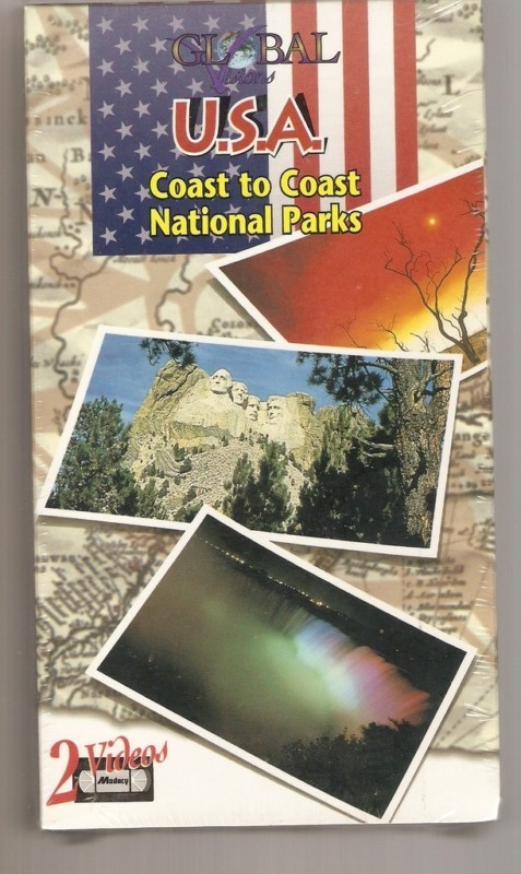 USA COAST TO COAST NATIONAL PARKS 2 VHS VIDEOS  NEW