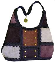 The Sak® Wendy Handbag Purse - Plum Knit and Suede Patchwork Bag NWT *Rare - $49.00