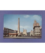 Vintage Postcard 1957 Pack Square Downtown Asheville NC 1950s - $7.99