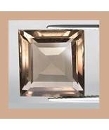 1.79ct SMOKY QUARTZ Square Cut 8x8mm Faceted Loose Gemstone - $10.99