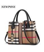 NEWPOSS Casual plaid shoulder bag for women- - $39.99