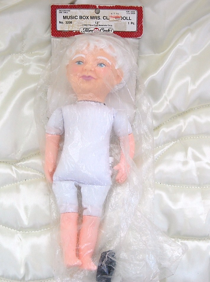 Mrs. Claus Music Box doll