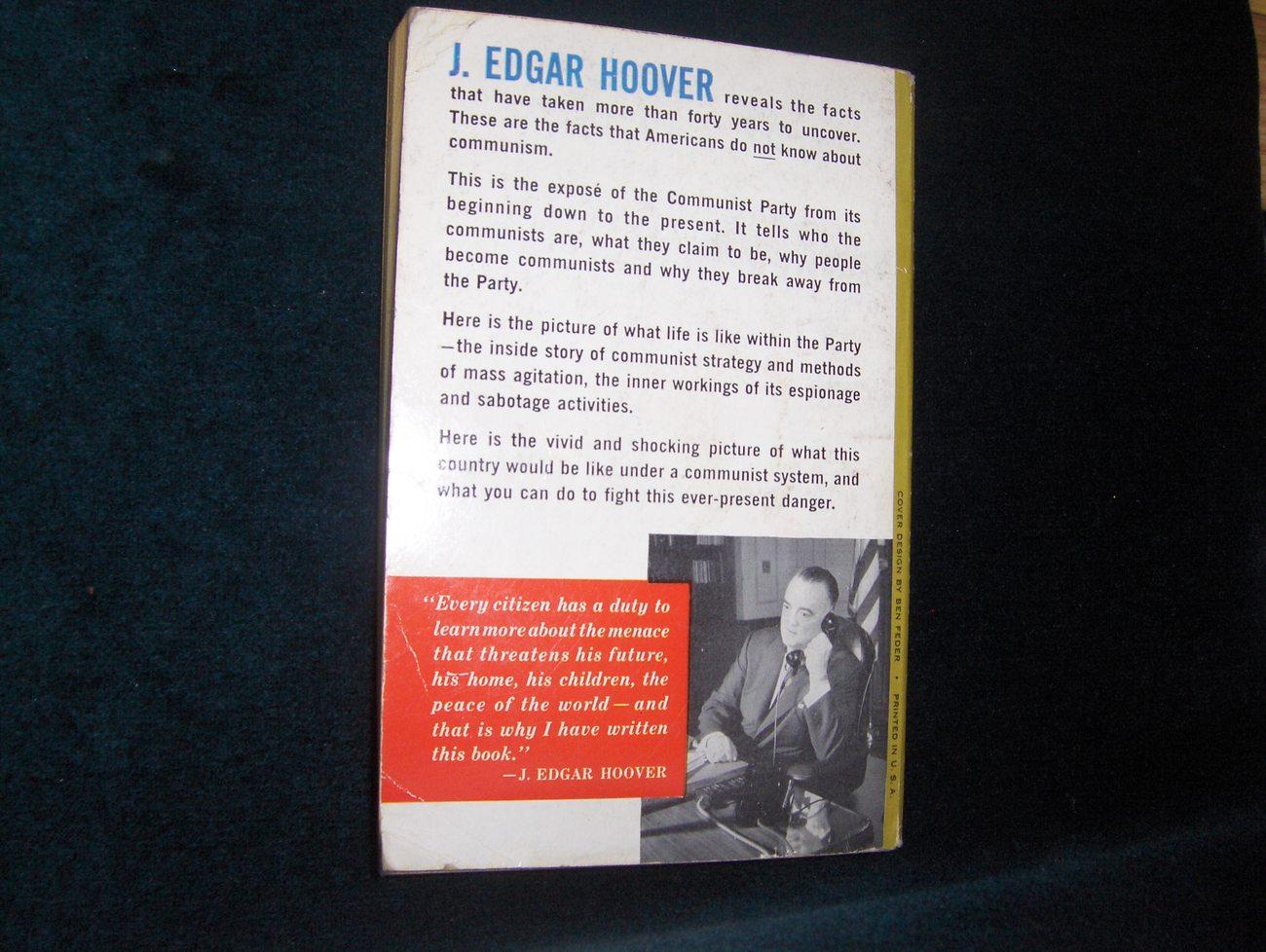 J. Edgar Hoover Masters of Deceit 1963