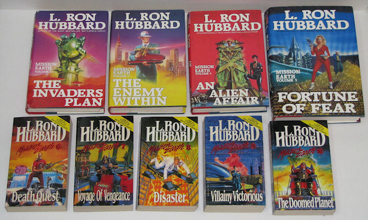 Mixed Lot of 11 Books by L.Ron Hubbard, 9 Mission Earth