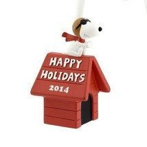 Hallmark Peanuts SNOOPY Christmas Ornament! HAPPY HOLIDAYS 2014! - $36.83