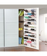 Over-The-Door Shoe Rack for 36 Pair Wall Hanging Closet Organizer Storag... - £22.91 GBP