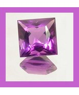 1.55ct AMETHYST Square 8x8mm Violet Faceted Loose Gemstone - $10.99