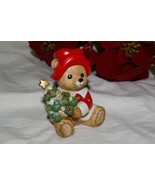 Homco Bear in Santa Suit with Tree 5175 Home Interiors - $4.99